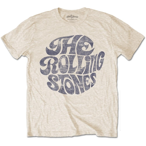 The Rolling Stones - Vintage 1970s Logo Unisex Small T-Shirt - Neutral