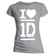 One Direction I Love Skinny Grey TS: Large