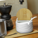 Ceramic Sugar Pot with Lid & Spoon | M&W - Image 2