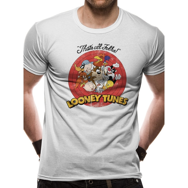 Looney Tunes - Group Vintage Men's Small T-Shirt - White