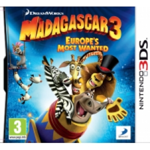 Madagascar 3 Europes Most Wanted Game 3DS