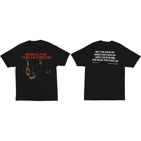 Bring Me The Horizon - Wipe The System Unisex Large T-Shirt - Black