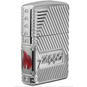 Zippo Unisex's Bolts Design High Polish Chrome Windproof Lighter