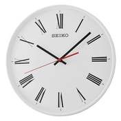 Seiko QXA701W Quiet Sweep Second Hand Wall Clock - White with Roman Numerals