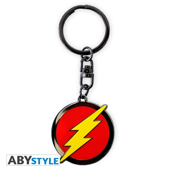 DC Comics - Flash Logo Metal Keyring