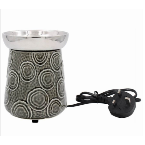 Ceramic Oil Burner By Lesser & Pavey (UK 3 Pin Plug)