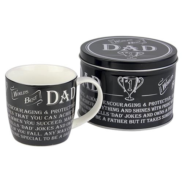 Ultimate Gift for Man Mug in a Tin Best Dad