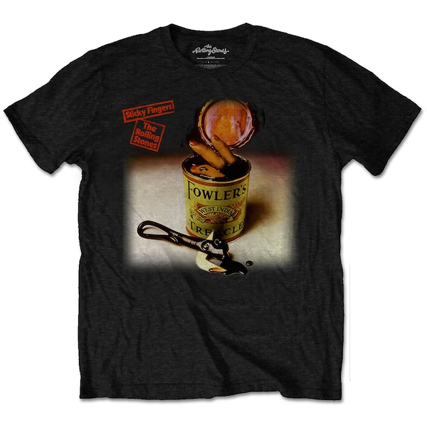The Rolling Stones - Sticky Fingers Treacle Unisex Small T-Shirt - Black