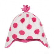 Kite Kids Baby-Girls 1-3 Years Spotty Fleece Polka Dot Hat
