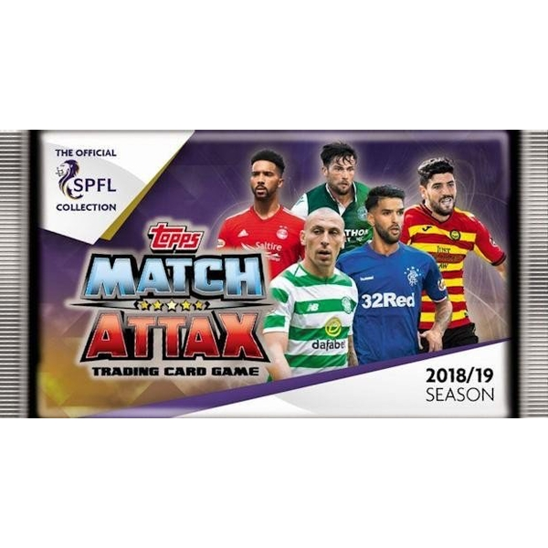 SPFL Match Attax 2018/19 Trading Cards (50 Packs) - Image 1