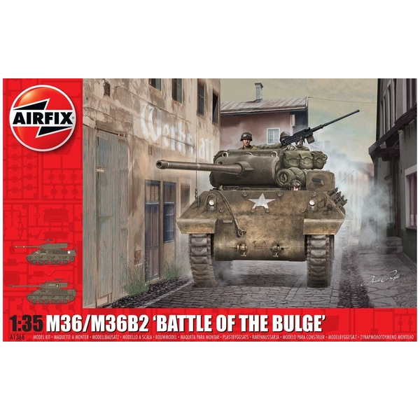 "M36/M36B2 ""Battle of the Bulge"" 1:35 Tank Air Fix Model Kit"