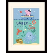 Peppa Pig - Under The Sea Mounted & Framed 30 x 40cm Print