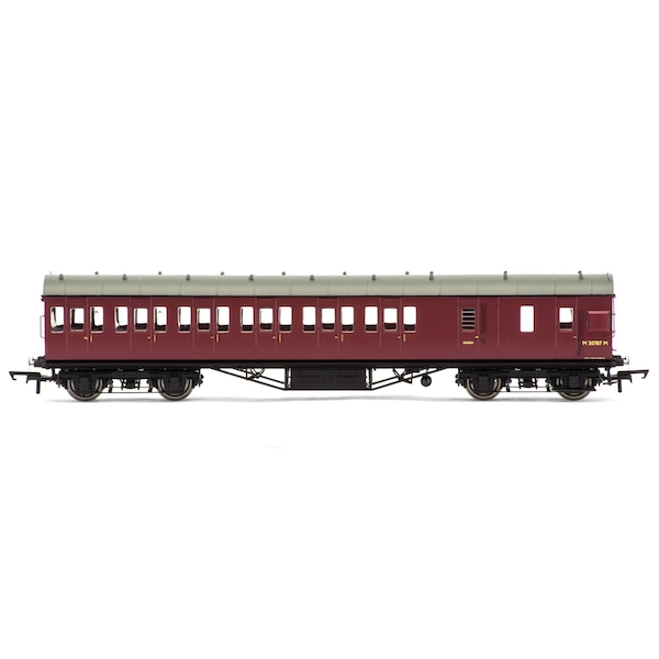 Hornby BR 57' Stanier Non-Corridor Brake Third M20787M Era 5 Model Train