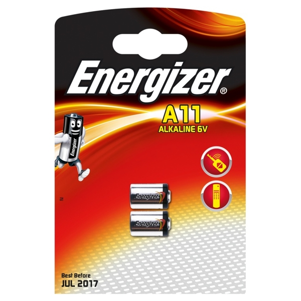 Eveready Energizer A11/E11A Alkaline Card