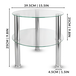 Small Round Glass 2 Tier Table | M&W Clear  - Image 5