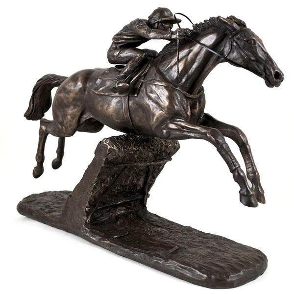 Istbraq Horse Racing by Harriet Glen Cold Cast Bronze Sculpture