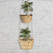 Two Tier Hanging Seagrass Planter | M&W - Image 2