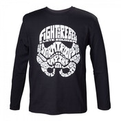 Star Wars Kids Unisex Stormtrooper Word Play Long Sleeved 122/128 T-Shirt