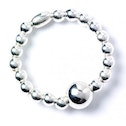 Sterling Silver Ball Bead Ring