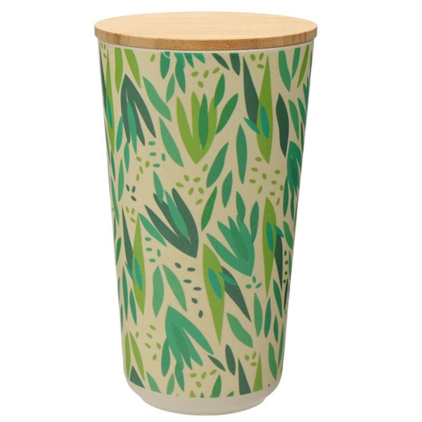 Willow Bamboo Composite Large Round Storage Jar
