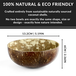 Pack of 2 Natural Coconut Bowls | M&W - Image 4