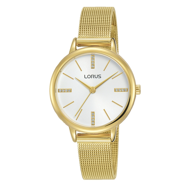 Lorus RG214QX9 Ladies Light Gold Dress Mesh Bracelet Watch