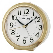Seiko QHE146G Beep Alarm Clock with Snooze & Light Gold