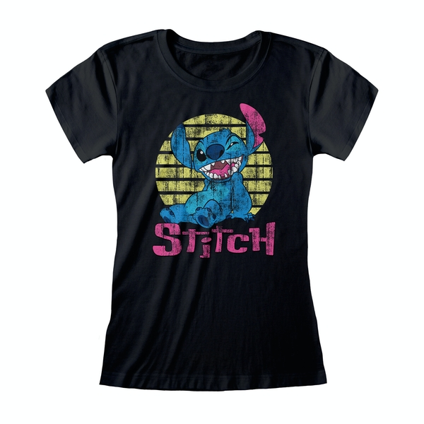 Lilo & Stitch - Vintage Stitch Women's Medium T-Shirt - Black