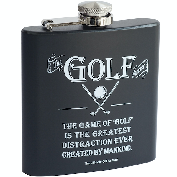 Ultimate Gift for Man Hip Flask Golf