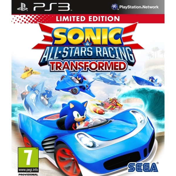 Sonic & All-Stars Racing Transformed Limited Edition Game PS3