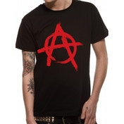 Cid Originals - Anarchy Symbol Unisex Small T-Shirt - Black