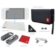 PDP Nintendo Switch Starter Kit with Grey Travel Case