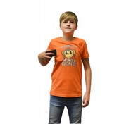 Digital Dudz Kids Unisex Moving Eyes Monkey Business Digital X-Large Orange T-Shirt