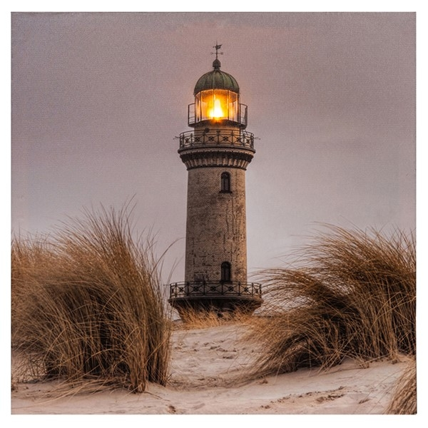 Seashore LED Lighthouse Canvas