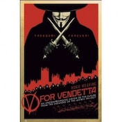 V For Vendetta Red Maxi Poster