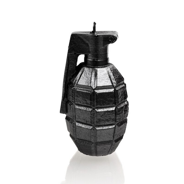 Steel Large Grenade Candle
