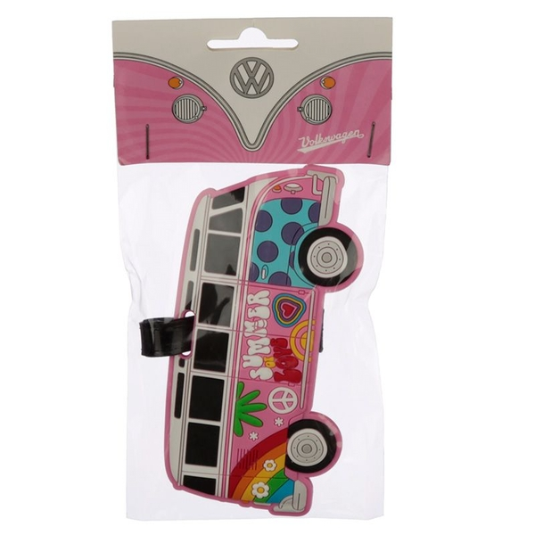 Volkswagen VW T1 Camper Bus Small Summer Love Luggage Tag