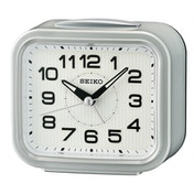 Seiko QHK050S Bell Alarm Clock with Snooze - Metallic Silver