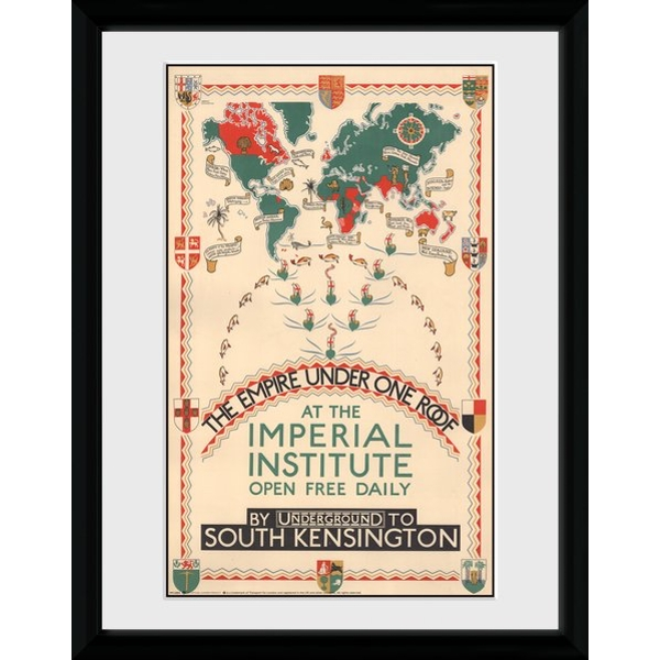 """Transport For London Empire Under One Roof 12"""" x 16"""" Framed Collector Print"""