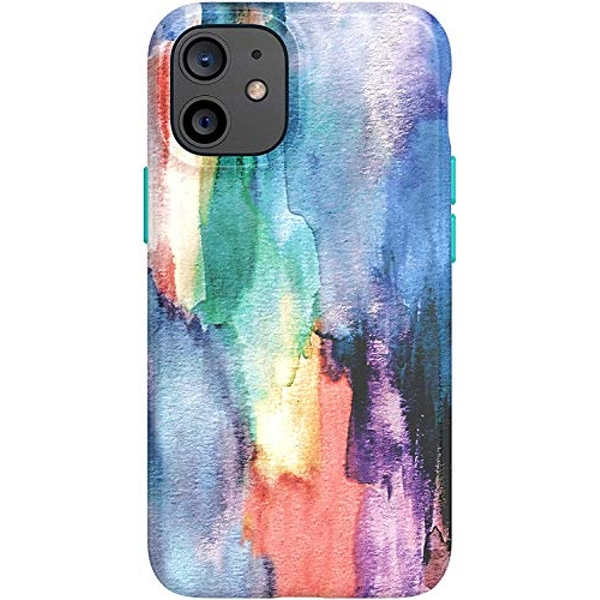 tech21 EcoArt Watercolour for Apple iPhone 12 and 12 Pro 5G - Fully Biodegradable Phone Case with 3 Meter Drop Protection