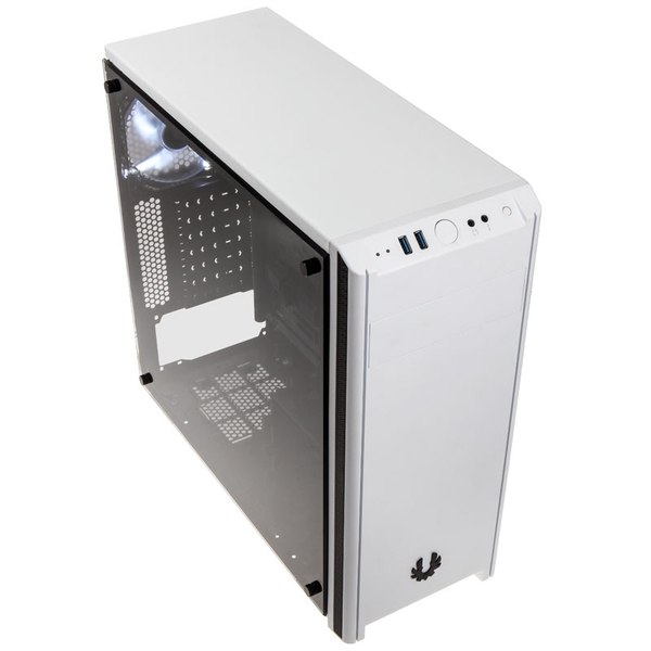 Bitfenix Nova Glass Midi Tower Case - White Tempered Glass Window