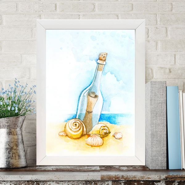 BC98119424 Multicolor Decorative Framed MDF Painting