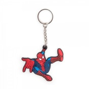 Marvel Comics Spider-Man Unisex Swinging into Action Rubber Keychain
