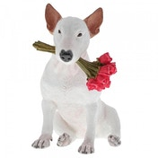 Red Roses (Jimmy the Bull) Dog Figurine