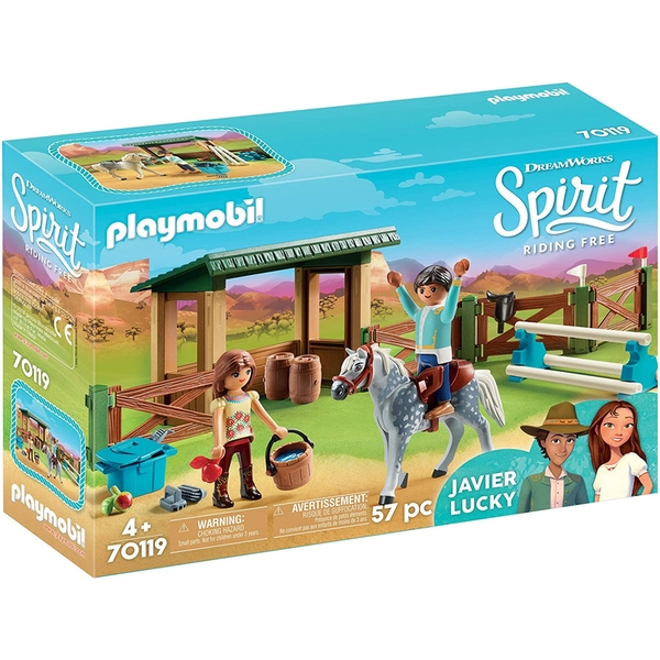 Playmobil DreamWorks Spirit Riding Arena with Lucky and Javier