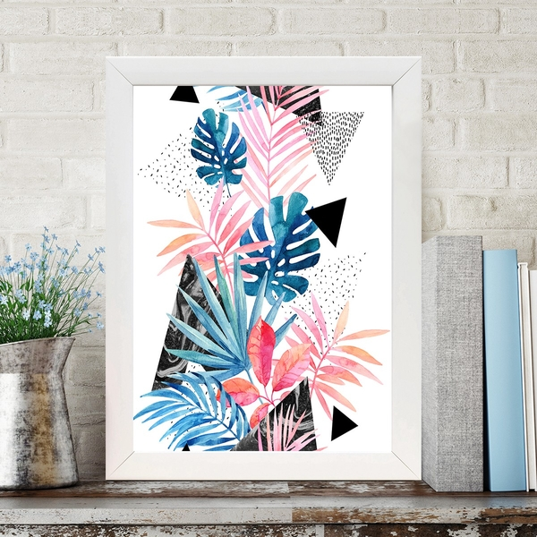 BC749833915 Multicolor Decorative Framed MDF Painting