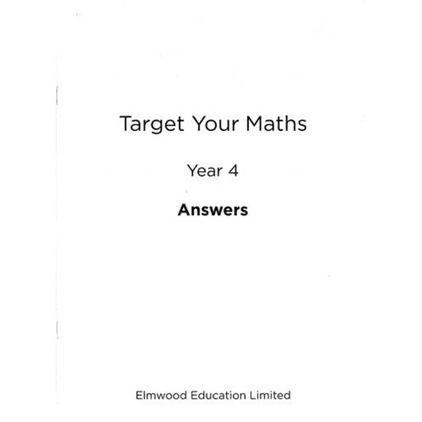 Target Your Maths Year 4 Answer Book by Stephen Pearce (Paperback, 2014)