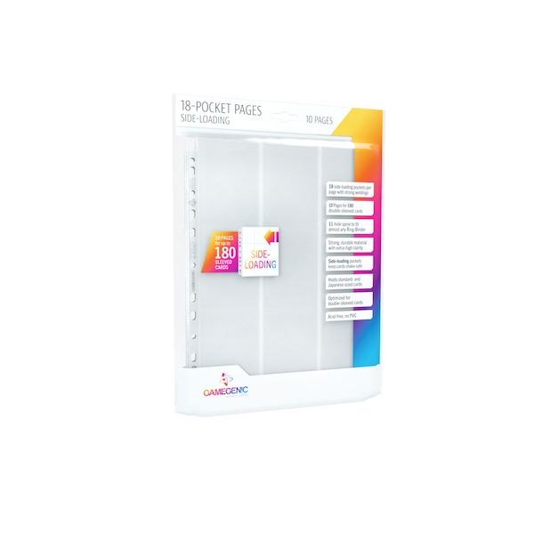 Gamegenic Sideloading 18 Pocket Pages 10 Sleeves - White