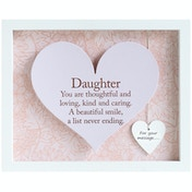 Said with Sentiment Rectangular Heart Frames Daughter