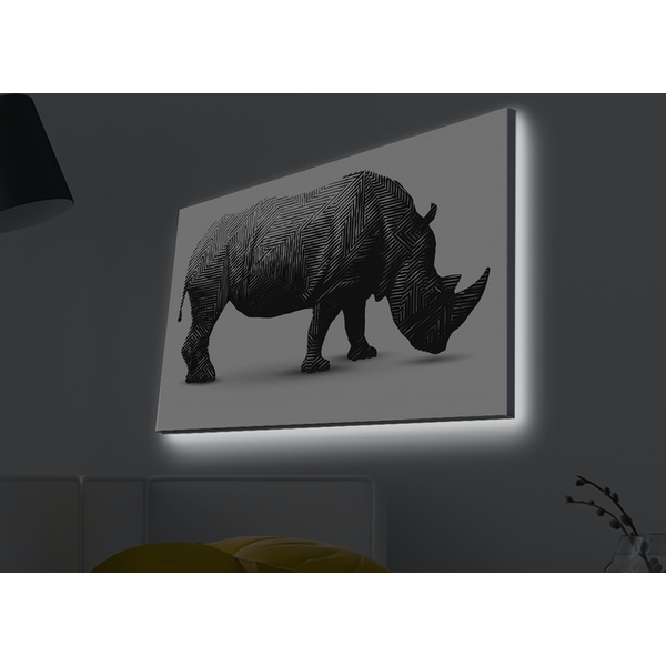 4570MDACT-014 Multicolor Decorative Led Lighted Canvas Painting